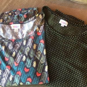 Lot of two lularoe tops